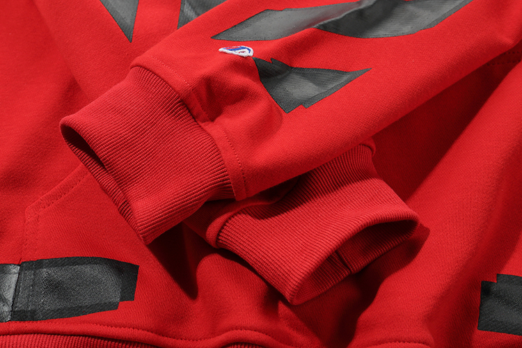 Черная стрела 19ss Off White OW для мужчин и женщин для влюбленных осень зима хлопок мода уличная куртка с капюшоном Толстовка - 5