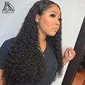 28 30 40 дюймов длинные густые завитые 13x4 Синтетические волосы на кружеве парики из натуральных волос на кружевной основе бразильские волосы в...