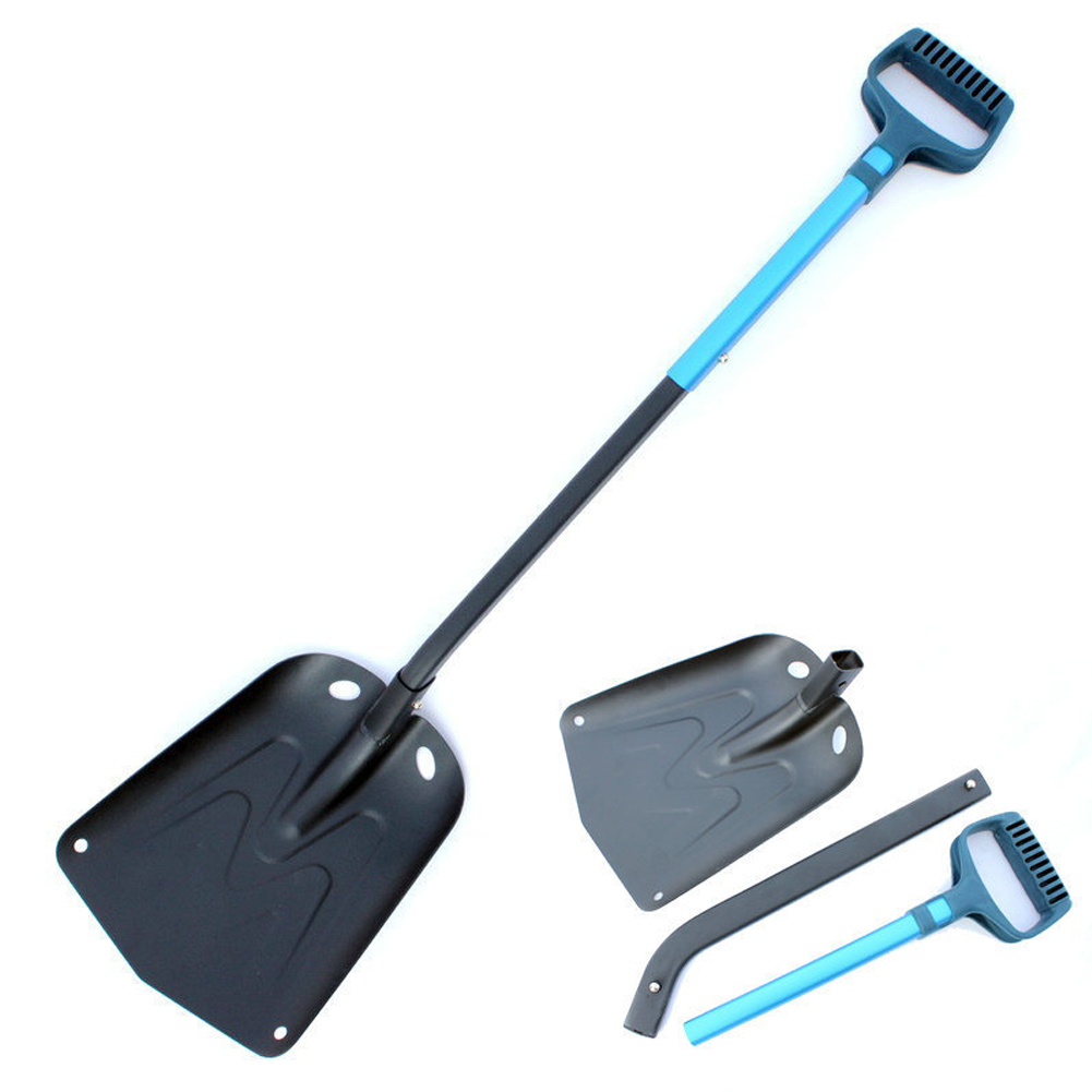 For Car D Shaped Handle Folding Snow Shovel Camping Hiking Tools Outdoor Ice Remove Aluminium Alloy Multifunctional Winter