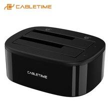 2020 cabletime корпус для жесткого диска usb30 hdd чехол с двумя