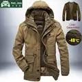 Chaqueta de invierno de marca para hombre gruesa cazadora cálida Parkas para hombre forro de cachemir de alta calidad desmontable 2 en 1 abrigo de talla grande L 4XL