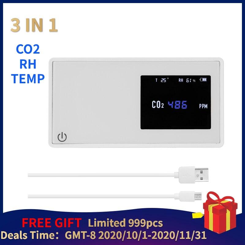Mini karbon dioksit dedektörü medidor co2 ev hava kalitesi dedektörü CO2 test cihazı yüksek doğruluk hava kalitesi izleme gaz analiz