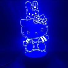 3d лампа для кошек и объятий будильник Ночной светильник новинка