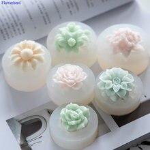 Одно отверстие цветок ручной работы мыло Мягкие силиконовые