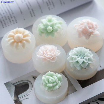 Single-hole Flower Handmade Soap Soft Silicone Mould 3d Mold Forms Fondant Cake Decors Plaster