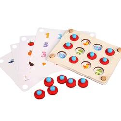 Juego de ajedrez Montessori en 3D para niños, rompecabezas de madera educativo temprano, juego de interacción informal para fiesta