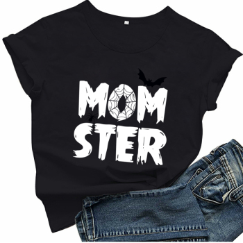 Momster T Shirt Women's Clothing & Accessories Tops & Tees T-Shirts cb5feb1b7314637725a2e7: Black|blueQ87|green Q35|grey Q24|navy blueQ77|Orange red|pinkD20|redQ72|White|yellowQ25