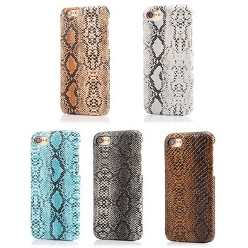 Durable snake skin matte cool Protective wild case cover skin for iPhone 6 6s 7 8 plus x xs max xr shockproof phone case image