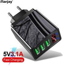 Marjay USB зарядное устройство QC 3,0 для iPhone 7 8 X XR быстрое зарядное устройство для samsung A70 3 порта USB зарядное устройство для huawei P20 lite Xiaomi redmi 4x