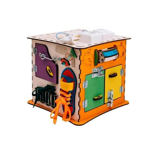 Развивающий куб Бизиборд с электрикой ЭLen Toys, ЭК-019