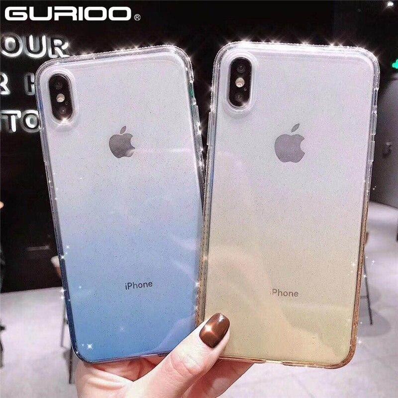 Soft-Case Rhinestone-Cover Glitter Diamond Bling Silicone iPhone X for 6/6s/7/8-plus