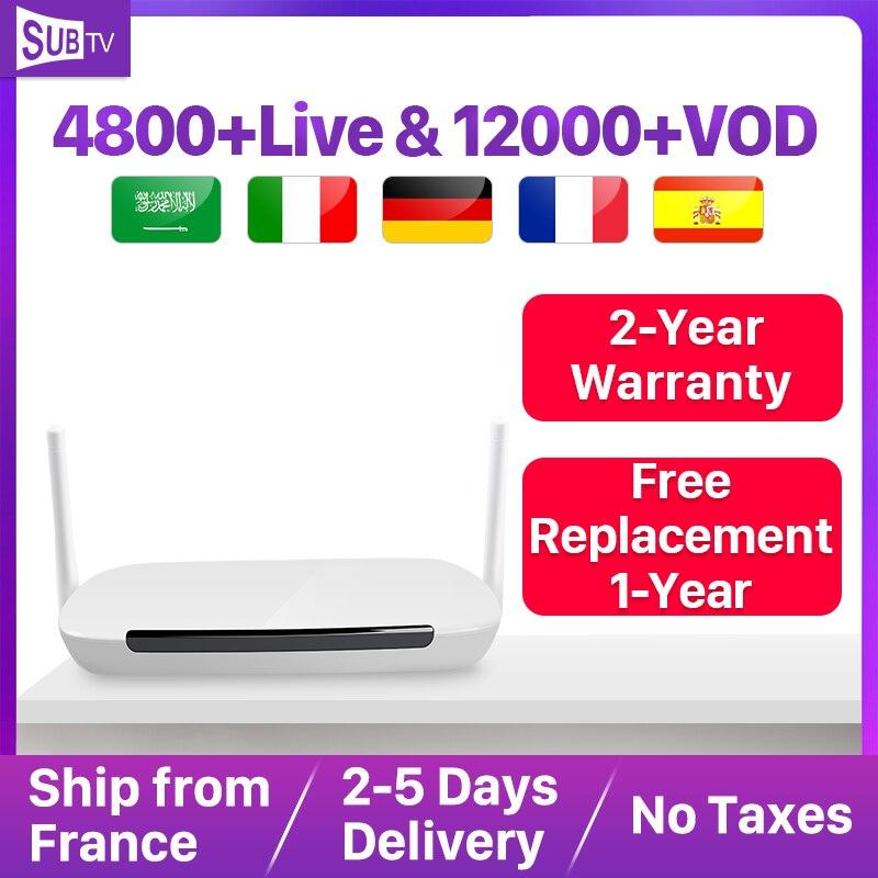 SUBTV 4K IPTV arabe France italie Android 8.1 Leadcool Q9 1 + 8G RK3229 H.265 décodeur IP TV abonnement français Portugal turquie