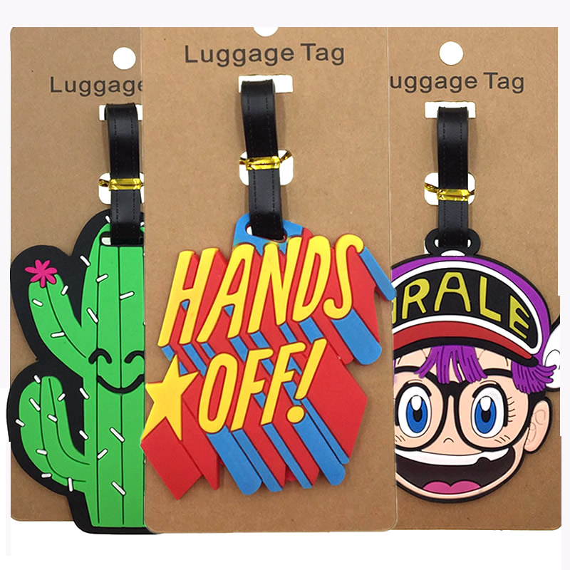 Travel Accessories Kawaii Letter Hands Off Luggage Tags Portable Silica Gel Suitcase ID Addres Holder Label Baggage Boarding