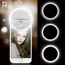 LED Selfie Ring Light Fill Light Mobile USB Charge Phone Flashes Lens Luminous Lamps Clip Rings Light for iPhone Xiaomi Huawei