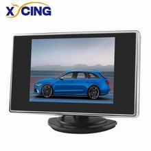XYCING 3.5 inch Car Monitor for Reverse Backup Camera 2 AV Input Car Rear View Monitor