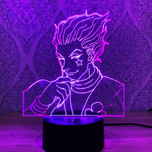 Anime Hunter X Hunter Led Touch Sensor Colorful Bedroom Nightlight Decor Light Cool 3d Lamp Hisoka Gadgets as Kid's Gift