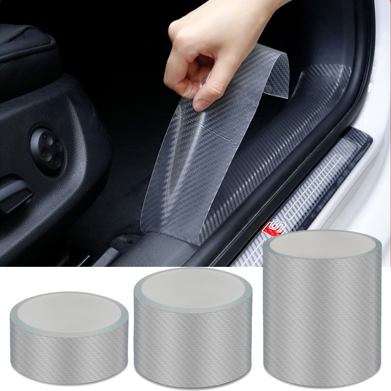 Universal Car Anti-collision Strip carbon fiber car bumper Scratchproof Car Threshold Film Door Edge Rim Protective Car Sticker