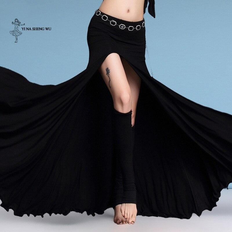 Modal Clothes Women Dance Wear Long Maxi Skirts Belly Dance Skirt Side Slit Bellydance Long Skirt 5 Colors For Women New