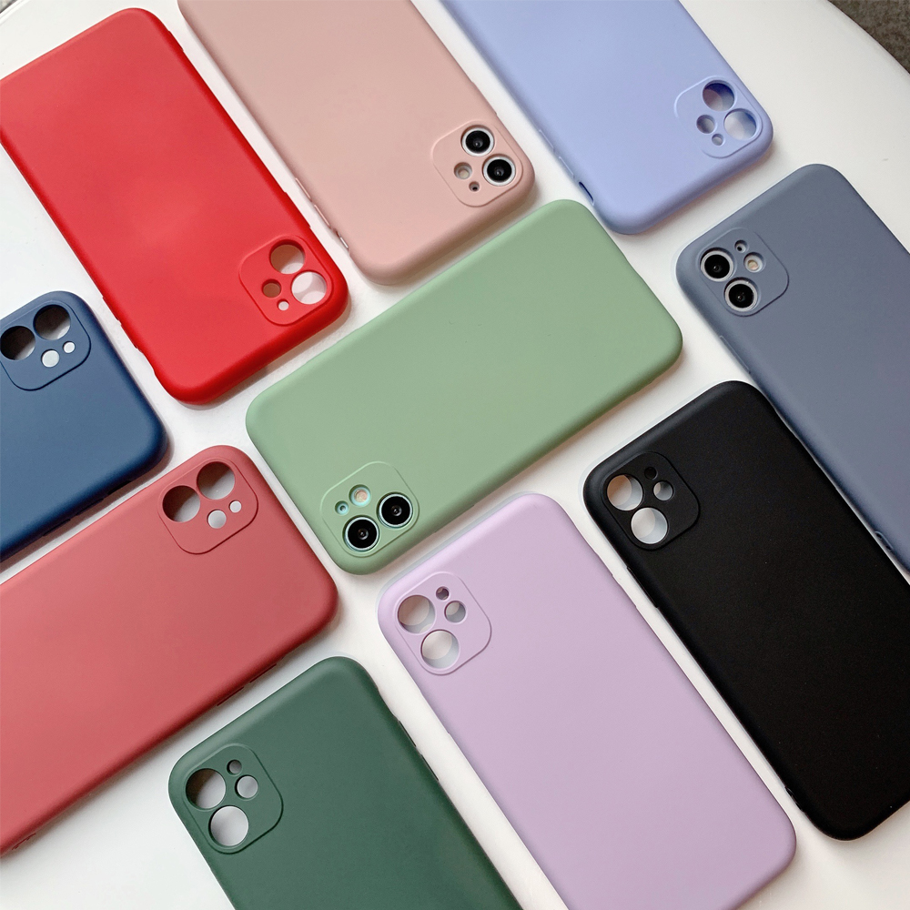 Luxury <font><b>Xs</b></font> 11 Pro Max XR Thin Soft <font><b>Case</b></font> Liquid Silicone Cover Candy Coque Capa <font><b>Original</b></font> for <font><b>Iphone</b></font> 6s 7 8 Plus SE 2020 for <font><b>Iphone</b></font> image