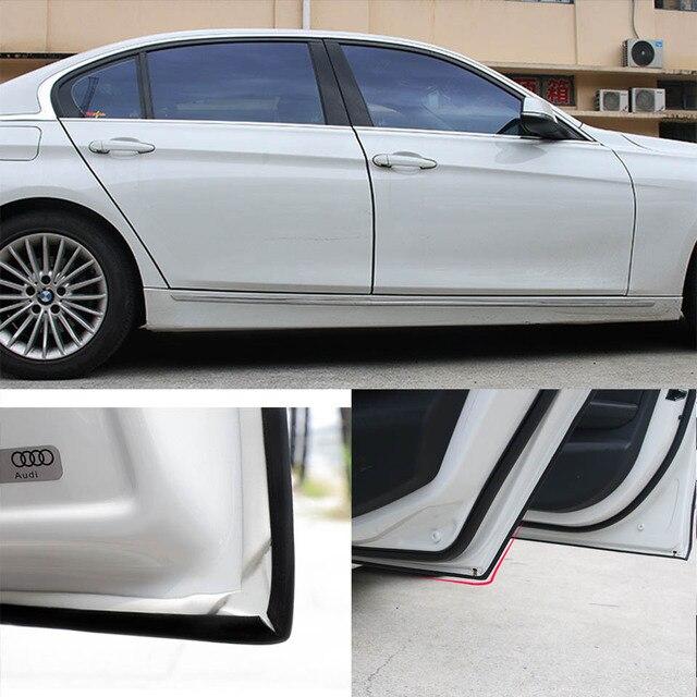 Autocollants de protection anti-rayures en caoutchouc   Bandes de style pour voiture 5M bord en caoutchouc pour portes, moulures universelles pour porte de voiture