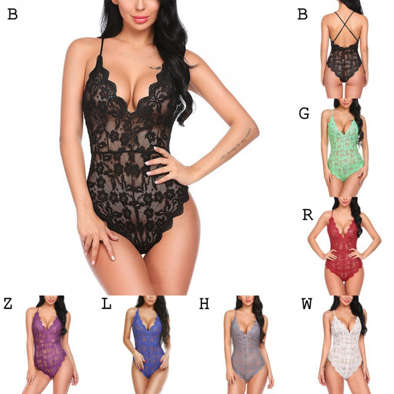 Women's Perspective Jumpsuit Large Size Lace Openwork Bodysuit Sex Lingerie Nightclub Clothing Teddies & Bodysuits  - AliExpress