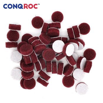 50pcs 25mm 1 Inch Tile Scouring Discs Hook Loop Scouring Pads Grout Power Scrubber Cleaning Sanding Rust Remover Abrasive Tool фото