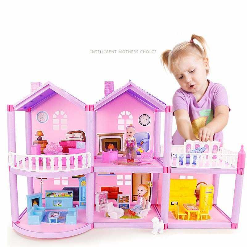 Handmade Dollhouse Castle DIY House Toy Miniature Dollhouse Birthday Gifts Educational Toys Doll Villa Girl DIY Toy