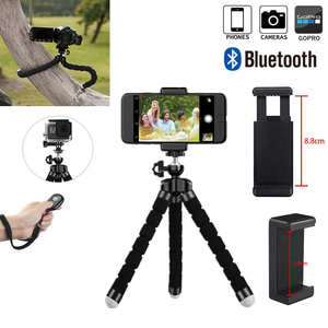 Image 4 - Phone Tripod, Portable And Adjustable Camera Stand Holder With Wireless Remote And Universal Clip For Iphone, Android Phone, Cam
