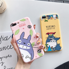 Solid color cartoon cute for iPhone Xs XR Max mobile phone case 6s 7 8 Plus silicone drop