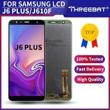 새로운 6.0 amoled 삼성 갤럭시 J6 + J610 2018 J610F J610FN 디스플레이 LCD 화면 교체 삼성 J6 플러스 LCD 디스플레이