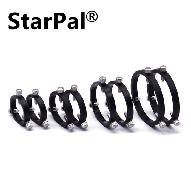 StarPal 42mm 50mm 65mm 80mm 90mm 100mm 110mm 6 point guide scope rings pair Astronomical Telescope Accessories
