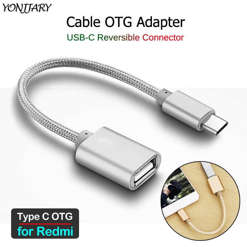 Type C Male to USB Female Adapter OTG Data Cable For Xiaomi MI 4C