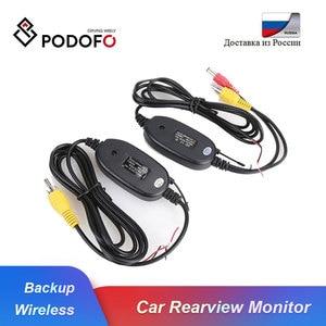 Беспроводная камера заднего вида Podofo, 2,4 ГГц, RCA видео передатчик и приемник, комплект для автомобильного монитора заднего вида, камера задне...