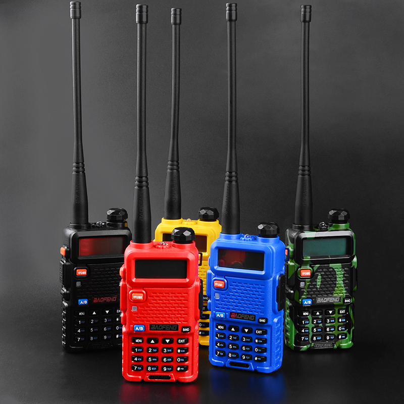 2PCS Hot Portable Radio Baofeng UV-5R two way radio Walkie Talkie pofung 5W vhf uhf dual band baofeng uv 5r 4