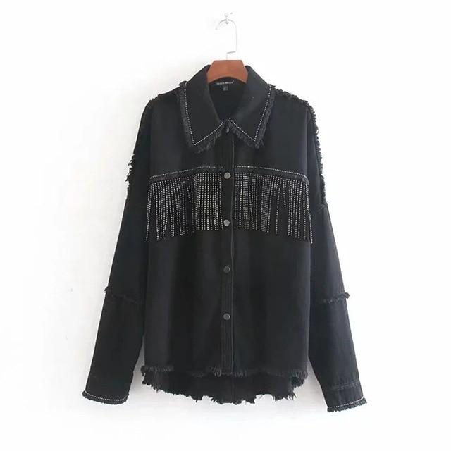 Toppies 2020 printemps glands pour poitrine Denim veste lâche armée vert bouton manteau femme jean veste irrégulière ourlet Streetwear 2