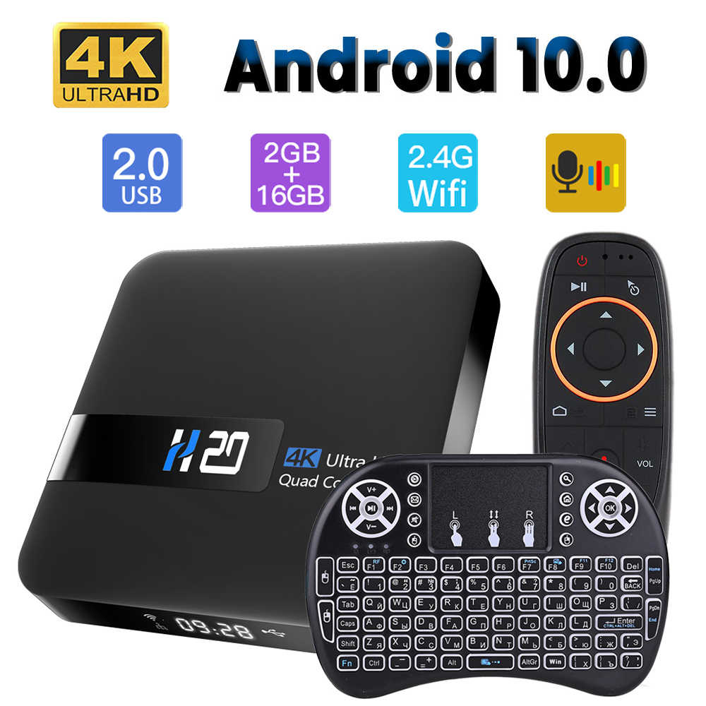 HONGTOP Android 10 TV BOX RK3229 Quad Core YouTube Netflix 2GB 16GB air maus ist optional 4K h.265 Wifi media player smart tvbox
