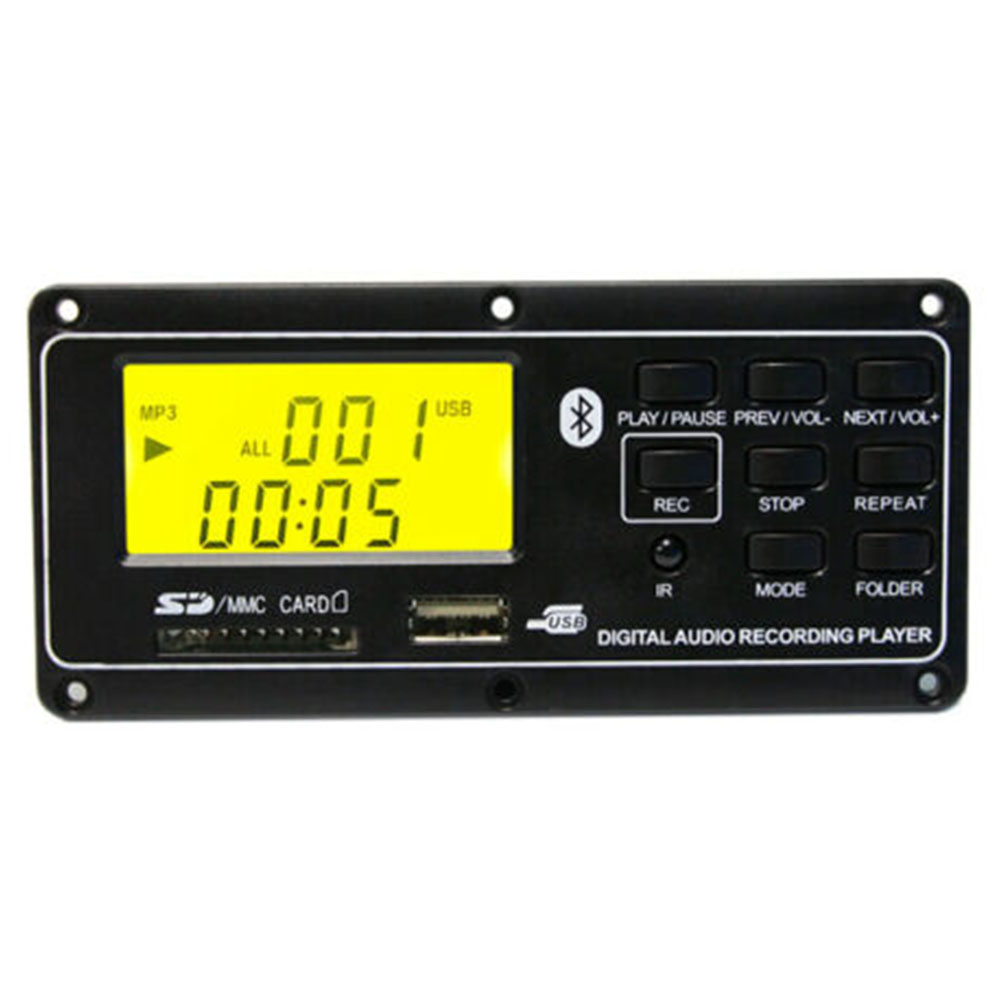 Small MP3 Player Bluetooth Board FM Remote Control Digital Led Aux  Card Accessories Audio Decoder USB Module
