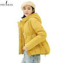 PinkyIsBlack Womens Winter Jackets Warm Parkas 2019 Spring Autumn Female Slim Cotton Down Short Ladies Casual Hooded Coat