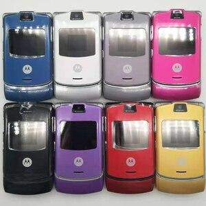 Image 2 - Оригинальный мобильный телефон Motorola Razr V3, хорошее качество, мировая версия, GSM, четырехдиапазонный мобильный телефон, один год гарантии, бесплатная доставка