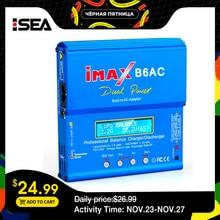 HTRC iMAX B6 AC RC şarj cihazı 80W B6AC 6A çift kanallı şarj dengeleyici dijital LCD ekran Li ion Nimh Nicd Lipo pil deşarj