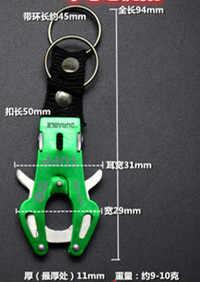 1 pc moda delicada escalada gancho mosquetão clipe bloqueio chaveiro chave multicolorido durável anel corrente escalada na rocha