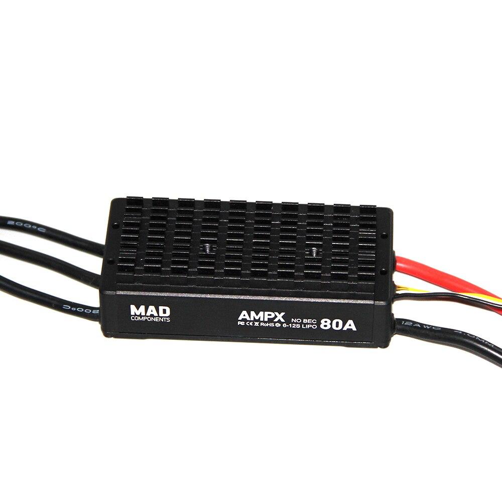 mad ampx esc 80a 5 s 14 s para diy agricultura planta drones uav diy quadcopter