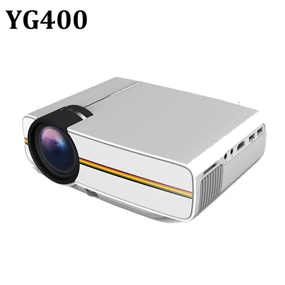Светодиодный мини-проектор YG400, 1000 лм, 800*480 DPI, ЖК-проектор для домашнего кинотеатра, проектор с поддержкой 1080P, USB HD проектор