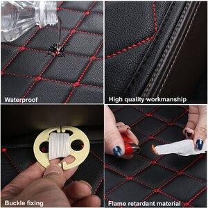 Image 4 - Araba koltuğu kapakları otomobiller emniyet koruma yastığı tam Set PU deri evrensel oto iç aksesuarları Mat Pad araba styling
