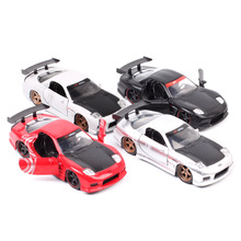 1:32 Scale Jada Classic 1993 Mazda RX-7 RX7 Sports Racing  JDM Tuners Metals Diecasts & Toy Vehicles model Of Replicas Car Auto