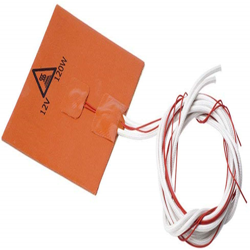 12V 80x100mm DC 20W Flexible Waterproof For 3D Printer Silicone Heated Bed Heating Mat Pad Electric Pads Warming Accessories