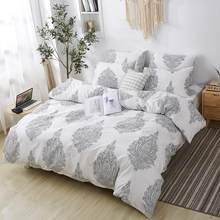 Stylish Flower Printed Bed Sheet Pillow Case Mattress Cover Home Bedding Set Bed Must NICE(China)