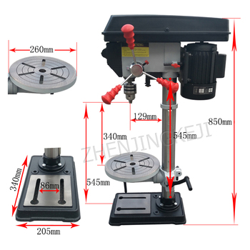 цена на 750W Laser Bench Drill Mechanical Accessories Tools Industrial Grade Small Milling Machine Home High Precision Drilling Machine