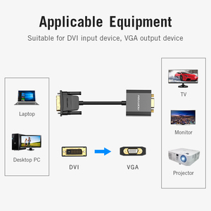 Image 5 - Vention DVI to VGA Adapter 1080P 24+1 25Pin Male to 15Pin Female Full HD Cable Converter for TV PC Monitor DVI D VGA Converter