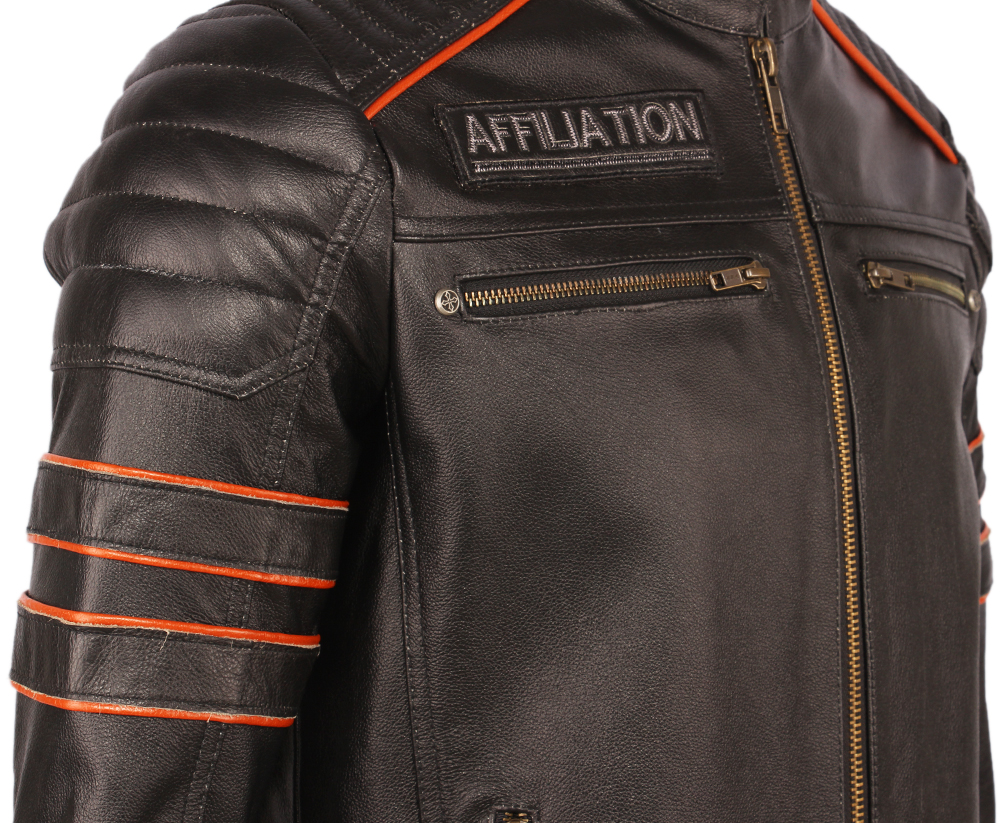 H4333b17173c34820b2a8d5cb210aabfcB Black Embroidery Skull Motorcycle Leather Jackets 100% Natural Cowhide Moto Jacket Biker Leather Coat Winter Warm Clothing M219